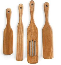 Spurtle Kitchen Tools Set Spatula Cooking Utensils 4 Piece Acacia Bamboo Set !!!