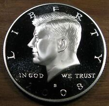 2008 S Kennedy Half Dollar 90% Silver Deep Cameo Proof Coin