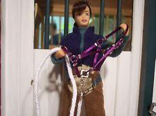Jaapi ROYAL PURPLE halter w/cotton rope lead-fits Breyer traditional models