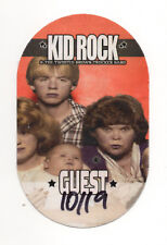Kid Rock & The Twisted Brown Trucker Band 2018 Tour Guest Satin Backstage Pass