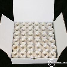 36 White Prewound Machine Embroidery Bobbin Thread Size A Standard