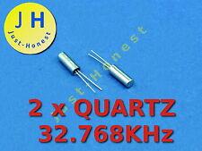 Stk.2 X quarzo/quartz 32.768 kHz 3x8mm MCU, RTC, clock, Orologio #a261