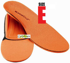 Superfeet ORANGE Insoles Inserts Orthotic Arch Support MEN Shoe Size 9.5 - 11 #E