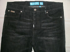 LRG Geans Men's 5-Pocket Black Distressed Jeans ~ 36W