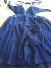 Lipsy London Party Cocktail Prom Dress Size 10 blue. NOW REDUCED FOR QUICK SALE!