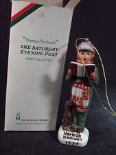 Norman Rockwell Dave Grossman 1979 NRx3 CARROLER ORNAMENT W/ Orig Box