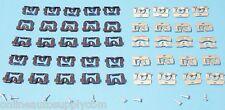 70-81 CAMARO FIREBIRD FRONT & REAR WINDOW GLASS TRIM MOLDING CLIP SET w/ SCREWS