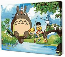 Diy oil painting, paint by number kit- My Neighbor Totoro 16*20 inch., New, Free