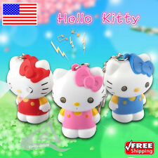 New Hello Kitty Flashlight LED Light and Sound Keychain Key Ring Gift US - Red