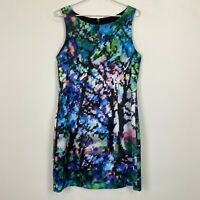 Portmans Womens Multicoloured Sleeveless Lined Dress with Back Zipper Size 12