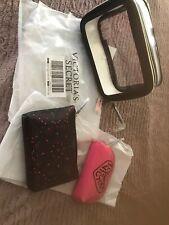 NWT Victorias Secret Make Up Beauty Cosmetic Bag Case Trio Set of 3