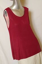 EILEEN FISHER Burgundy Lightweight Knit, Tank Top , Sleeveless, Stretchy Large