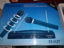 ELECTRONIC MIC PROFESSIONAL WIRELESS MICROPHONE EL1127 NEW in BOX