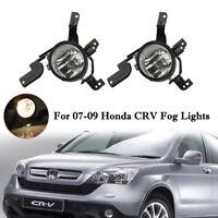 For 07-09 Honda CRV CR-V Bumper Fog Lights Lamp Left+Right 2007-2009 Aftermarket