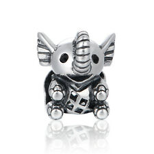 Lucky Elefante Charm - 925 Plata De Ley-Regalo De Cumpleaños