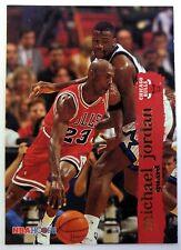 1995 95-96 NBA Hoops Michael Jordan #21, Shaquille O'neal on card !