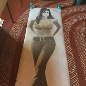 RAQUEL WELCH VINTAGE POSTER BAR GARAGE 1970 HOT GIRL VERY LARGE 5'10""