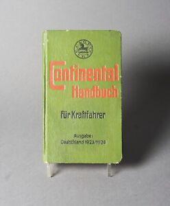 Continental Handbuchfür Kraftfahrer 1923/24 Alte Reklame 1.144Z