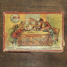 Antik Victorian Magnetic Jack Straws • Gesellschaftsspiel Spiel von 1891