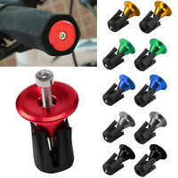 2x CNC Motorcycle Road MTB Bike Handlebar Cap Hand Grips Bar End Plug 7/8'' 22mm