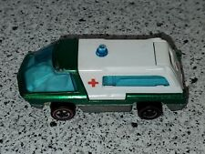1969 HOT WHEELS REDLINE THE HEAVYWEIGHTS AMBULANCE GREEN