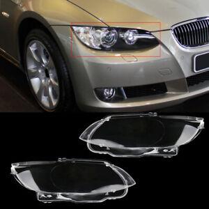 2 Headlight Headlamp Lens Cover Shell Fit for BMW 3 Series E92 E93 2006/07/08/09