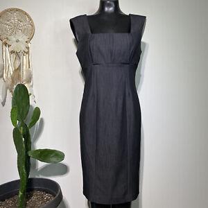 Size 8 Womans CALVIN KLEIN Classic Gray Sleeveless Empire Waist Sheath Dress