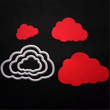 3stk. Wolken Stanzschablone Himmel Papier Karte Basteln DIY Geburtstag Geschenk