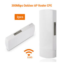 2pcs 300Mbps 5.8GHz WiFi Outdoor CPE Point Access Router Signal Range High Power