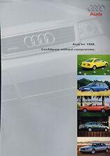 1998 AUDI Full Line Dealer Brochure / Catalog: A4,A6,A8,Cabriolet,1.8 T,2.8,