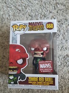 Funko Pop Marvel Zombies - Red Skull #668 Collector Corps Exclusive