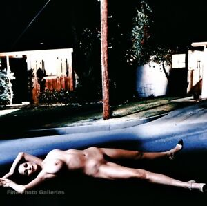 1998 Vintage HELMUT NEWTON Female Nude Woman Fashion Street Night Photo Art 8x10
