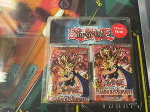 1996 Yugioh Trading Card Packs 2  Unopened Pharaoh's Servant Konami English Vtg