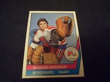 1977-78 OPC O-Pee-Chee WHA #38 Richard Brodeur Nordiques - MINT
