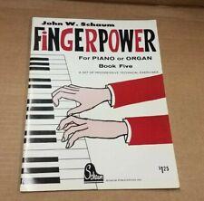 FingerPower for Piano Organ Schaum Level 5 One Music Book