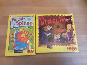 """HABA 2 Spiele """"Purzelspinne"""" und """"Draculix"""""""