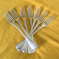 Christofle France Silver Plated Dinner Forks Set of 7 Balance C.C Circa 1900's