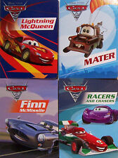 DISNEY PIXAR CARS 2 Lightning McQueen,Mater,Finn Mc Missile,Racers 4 Board Books