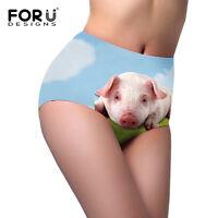 Animal Print Women's High Waist Panties Seamless Underwear Soft Comfort Briefs