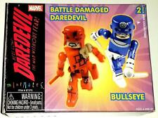 MARVEL UNIVERSE MARVEL MINIMATES BATTLE DAMAGED DAREDEVIL & BULLSEYE - NEW