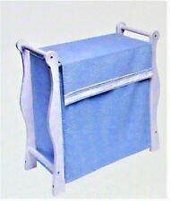 Badger Basket White Wood Sleigh Style Hamper - Blue
