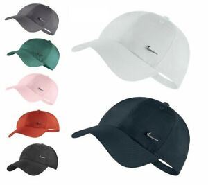 Nike Cap Swoosh Metal Logo Mens Baseball Hat Womens Golf Embroidery Adjustable