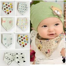 Waterproof Soft Feeding Bandana Baby Saliva Towel Gauze Cotton Triangle Bibs