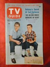 RICKY & DAVID NELSON Audrey Meadows Vol 1 #7 TV GUIDE May 15-21 1953 Chicago