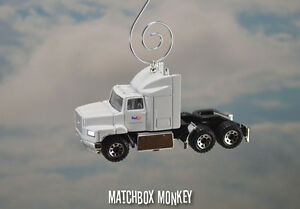 Fed Ex Semi Christmas Ornament 1/64 Federal Express Delivery Truck Ford Aeromax