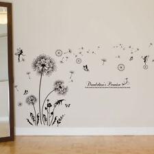 Wall Sticker adesivo Soffioni Farfalle Fata decorazione adesiva soffione parete