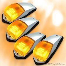 4 pcs Amber Chrome 31 LED Cab Marker Lights for Peterbilt Kenworth Freightliner