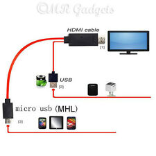 11Pin MHL Micro USB To HDMI 1080P HDTV Cable For Samsung Note 2 3 4 Galaxy S5 S4