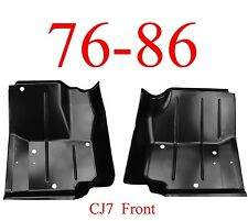 76 86 Jeep CJ7 Left & Right Front Floor Pan Set 0480-225, 0480-226