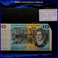 1972 Australian Ten Dollar Notes Au-Unc Phillips/Randall, Anacronym TAG,